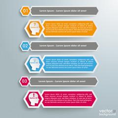 Long Hexagons Heads Banner 3 Steps