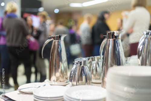 Staande foto Buffet, Bar Coffee break at business meeting