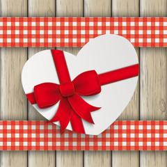Heart Gift Double Cloth Valentinsday Wood