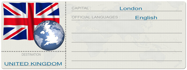 Ticket Gran Bretagna