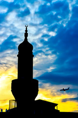 mosque in the dusk