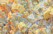 Background , orange siderite on quartz and Brazilian old man