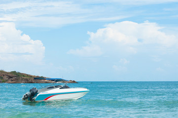 Speed boat at the beach