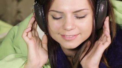 Girl in headphone