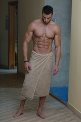 Beautiful Muscular Man With The Towel