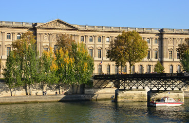 France, picturesque Pont des Arts in Paris