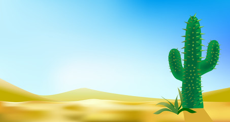 desert landscabe vector background