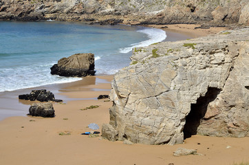 Arche on the coastline of Quiberon in France