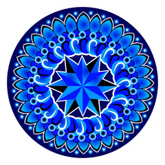 Blue circle mandala pattern