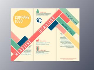 colorful modern design brochure template vector
