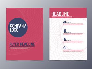 modern design flyer template vector