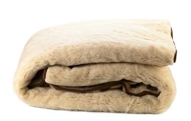 woolen blanket on white