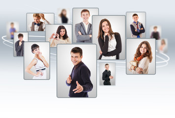 Young people collage portraits