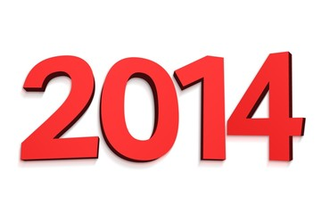 2014 in red letters
