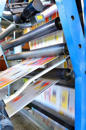 Druckmaschine für Tageszeitung // printing machine - 74527657