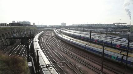 Rail yard in paris