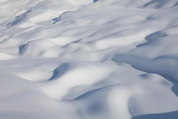 closeup of the snow.