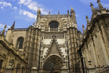 View of Seville cathedral and la giralda