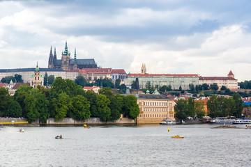 Cityscape of Prague.