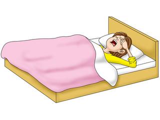 寝起き女性