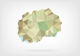 Low Poly Map of Macedonia
