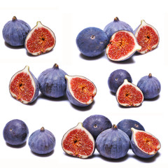 Collage of fresh figs
