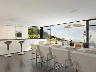Elegant contemporary dining area
