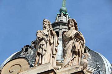 Fragment of facade of the Chapelle de la Sorbonne in Paris