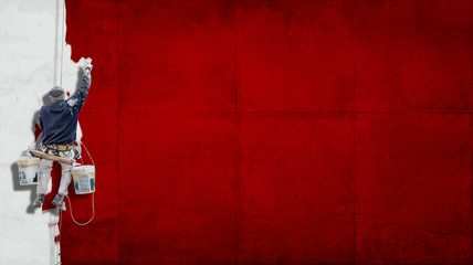 Industrial paint red background