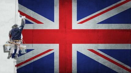 Industrial paint United Kingdom Flag
