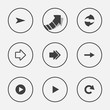 Arrow icon set pointer vector illustration internet web button