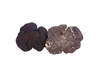sliced black truffle