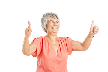 Positive old woman