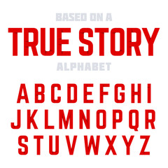 Modern font, alphabet. Ideal for headlines, posters, etc.