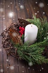 Decorative christmas composition