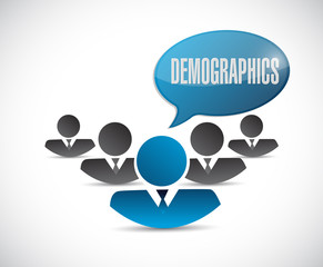 demographics people sign illustration