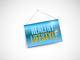 healthy lifestyle hanging banner