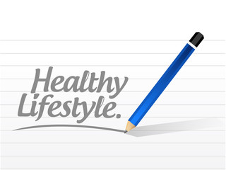 healthy lifestyle message illustration