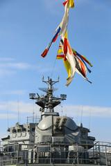 close-up - cutting and gun warship