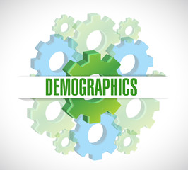 gears demographics sign illustration