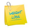 weight loss post memo illustration