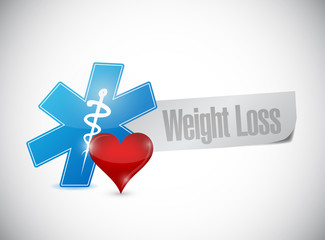 weight loss medical sign illustration