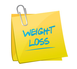weight loss post memo illustration