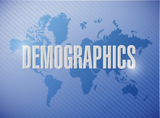 demographics sign illustration design