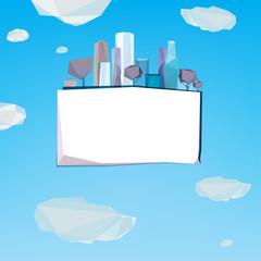 01 Polygonal city banner