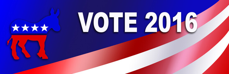 Democrat election Sticker for 2016