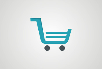 Shopping cart icons logo vector