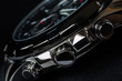luxury man watch detail, chronograph close up - 74535848