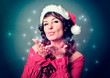 Santa-girl sending magic kisses - christmastime 10