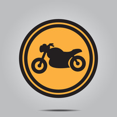 Motorcycle logo and icon  , vector illustration